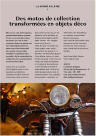Des motos de collection transformées en objets déco galerie arzee paris