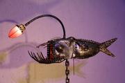 dragon des abysses d'Arzée création luminaire, sculpture objet d'art métallique Tarek et Esther Nasser , givraines loiret